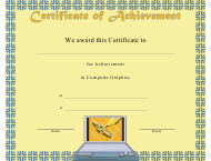 """Computer Graphics Achievement Certificate Template"""