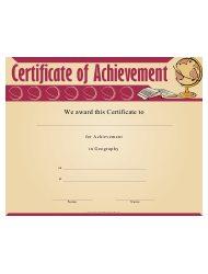 Geography Achievement Certificate Template