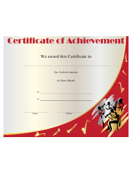 Jazz Band Achievement Certificate Template
