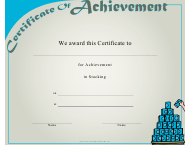 """Stacking Achievement Certificate Template"""