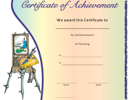 """Painting Achievement Certificate Template"""