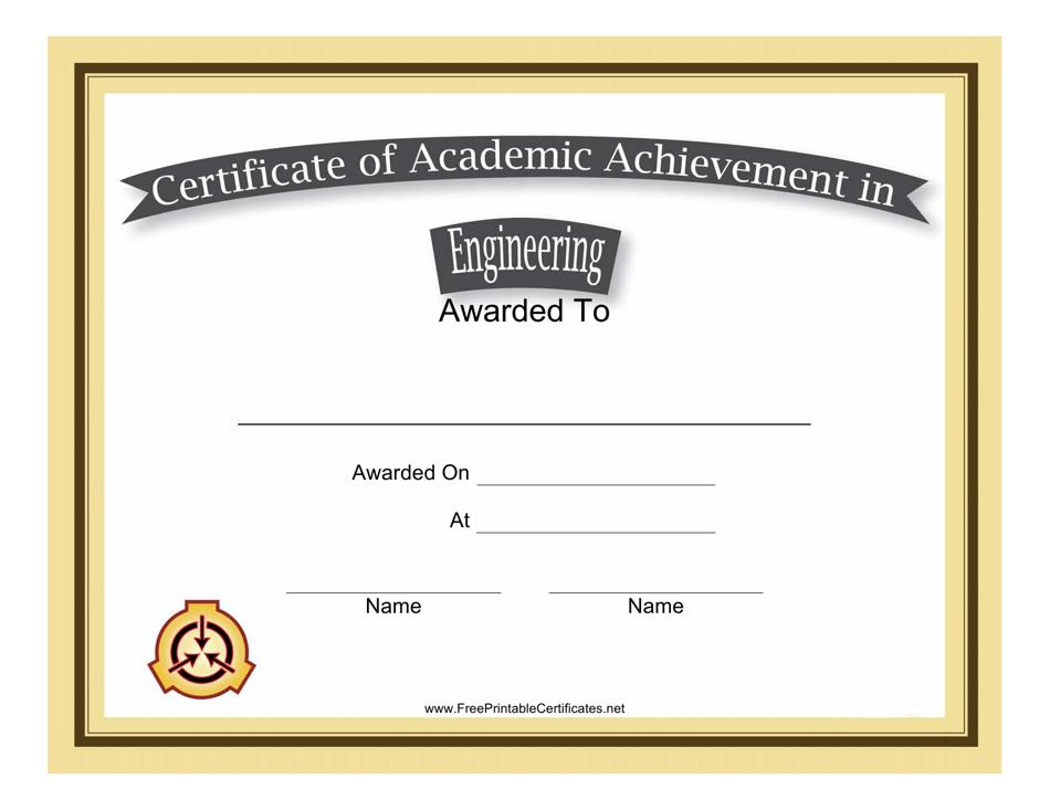 certificate achievement template engineering academic templateroller printable