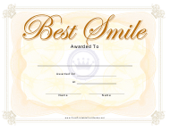 """Best Smile Certificate Template"""