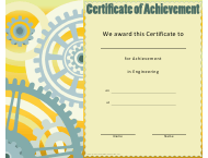 """Engineering Achievement Certificate Template"""