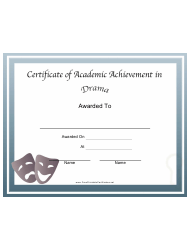 certificate of academic achievement templates pdf download fill and