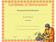 """Welding Achievement Certificate Template"""