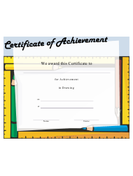 Drawing Achievement Certificate Template