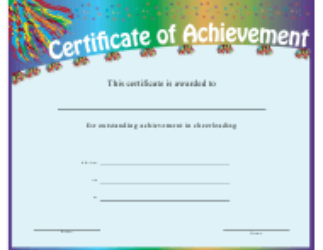 """Cheerleading Achievement Certificate Template"""