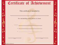 """Red Choir Certificate of Achievement Template"""