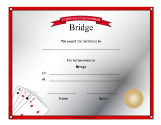 """Bridge Achievement Certificate Template"""