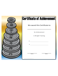 weight loss certificate templates