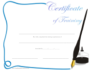 """Training Certificate Template"""