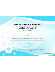 first aid training certificate template - First Aid Training Certificate Template