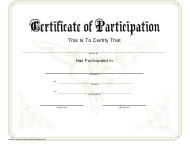 """Certificate of Participation Template"""