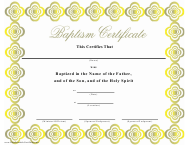 """Baptism Certificate Template"""