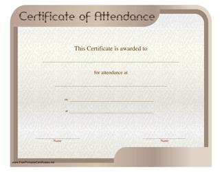 """Certificate of Attendance Template"""