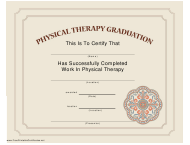 """""""Physical Therapy Graduation Certificate Template"""""""