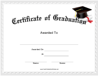 """""""Graduation Certificate Template"""""""