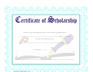 """Scholarship Certificate Template"""