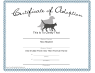 """Pet Adoption Certificate Template"""