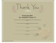 """""""Thank You Certificate Template"""""""