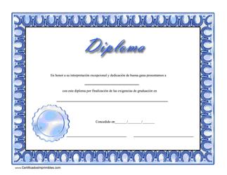 """Diploma Certificado"" (Spanish)"
