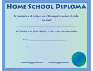 """Home School Diploma Certificate Template"""