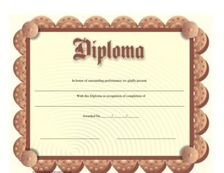"""Diploma Certificate Template"""