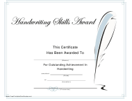 """Handwriting Achievement Certificate Template"" - Canada"