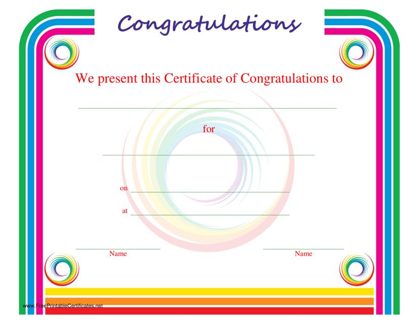 Congratulations Certificate Template Download Printable PDF ...