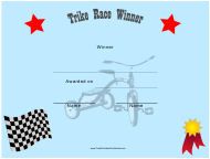 """Tricycle Race Winner Certificate Template"""