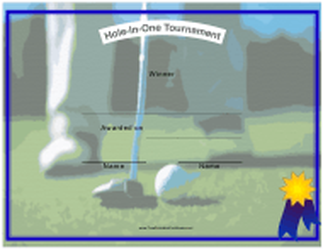 """Golf Winner Certificate Template"""