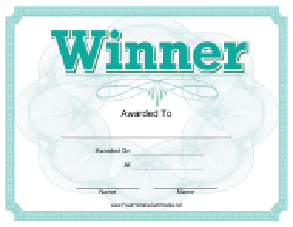 """Winner Certificate Template"""