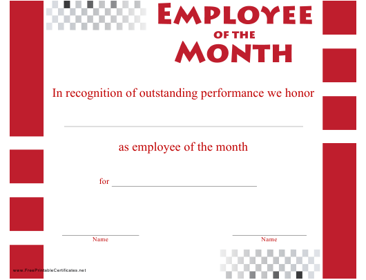 employee of the month certificate template download printable pdf
