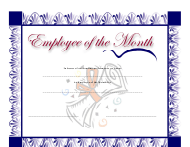 """""""Employee of the Month Certificate Template"""""""