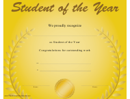 """Student of the Year Certificate Template"""