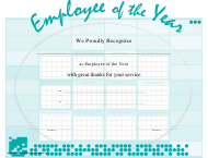 """""""Employee of the Year Certificate Template"""""""