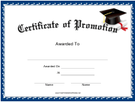 """Promotion Certificate Template"""