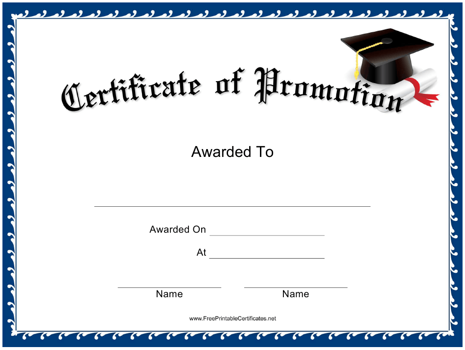 promotion certificate template download printable pdf