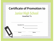 """Junior High School Promotion Template"""