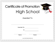 """High School Promotion Certificate Template"""