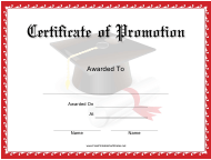 """Certificate of Promotion Template"""