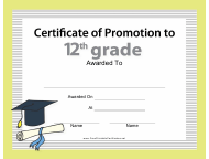 """12th Certificate of Promotion Template"""