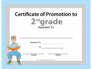 """Second Grade Promotion Certificate Template"""