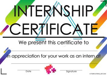 """Internship Certificate Template"""