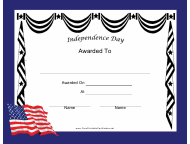 """""""Independence Day Holiday Certificate Template"""""""