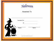 """""""Halloween Holiday Certificate Template"""""""