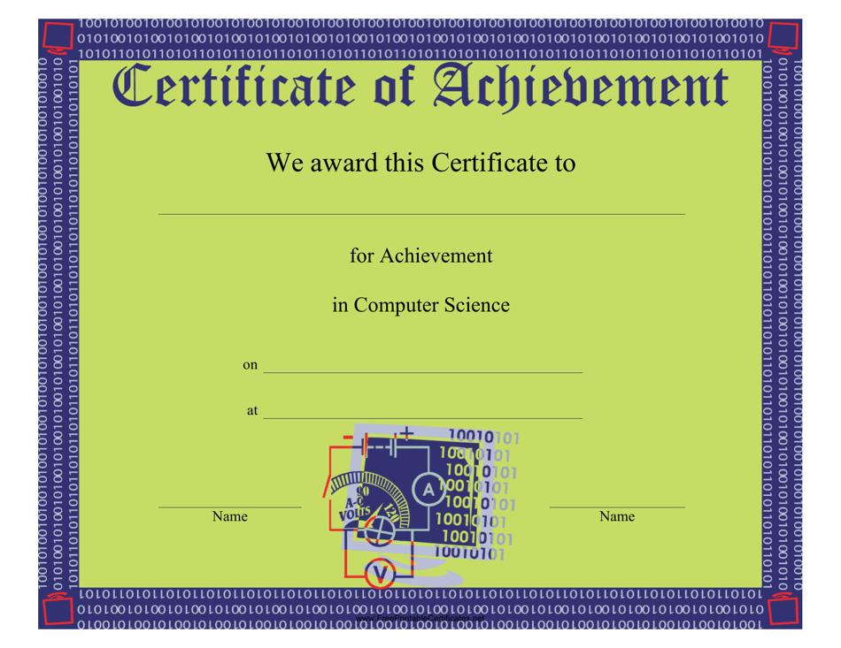 certificate computer achievement science template pdf templateroller printable