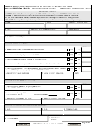 """NAVPERS Form 1306/97 """"Reserve Affiliation Screening Checklist and Contract Information Sheet"""""""
