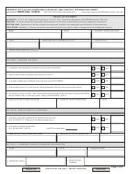 NAVPERS Form 1306/97 Reserve Affiliation Screening Checklist and Contract Information Sheet